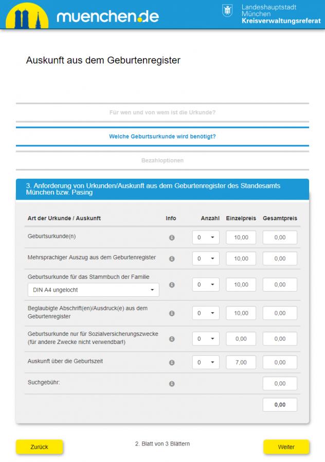 Geburtsurkunde u Njemackoj