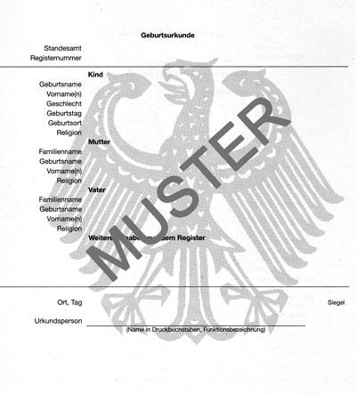 Kako izvaditi rodni list u Njemackoj