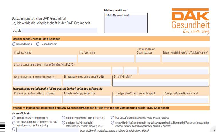 zdravstveno osiguranje u njemačkoj na hrvatski jezik